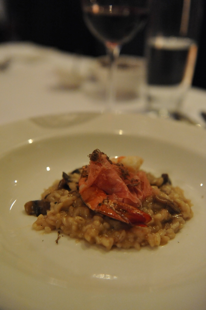 Lamont Bishops House (14) Manjimup truffle risotto with tiger prawns and Jamon