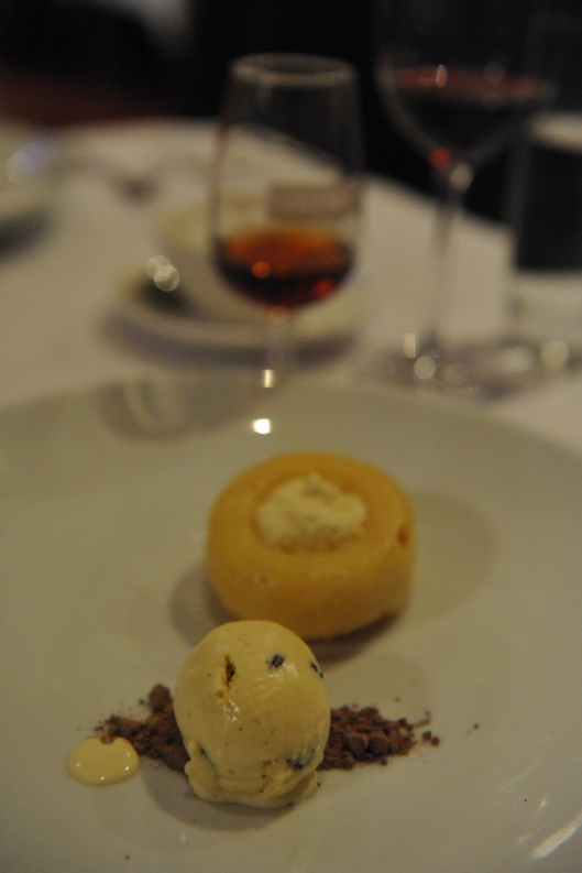 Lamont Bishops House (16) Savarin with rum and raisin ice-cream apple cider chantilly