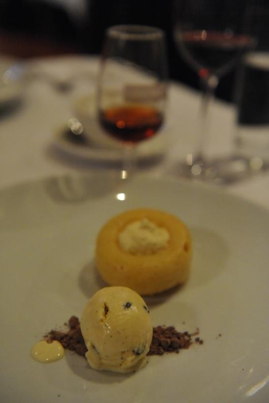 Lamont Bishops House (16) Savarin with rum and raisin ice-cream apple cider chantilly