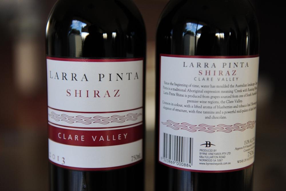 Byrne Vineyards Larra Pinta Clare Valley Shiraz 2013