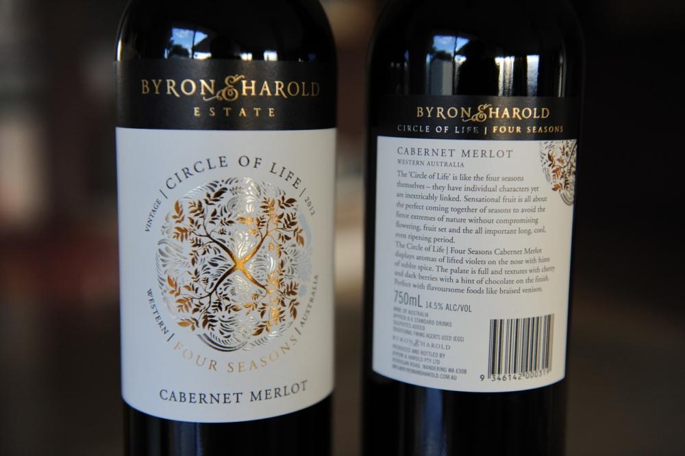 Byron & Harold Estate Circle of Life Four Season Cabernet Merlot 2012