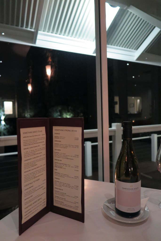 Cape Lodge Margaret River Dessert wines menu