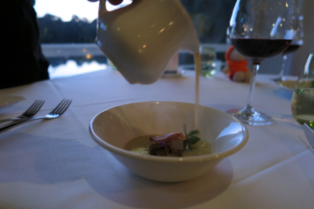 Cape Lodge Margaret River Serving Starter Jerusalem Artichoke Soup