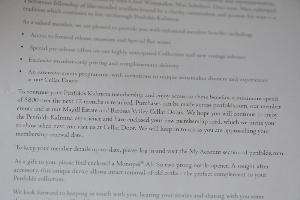 Penfolds Kalimna Wine Club (6)